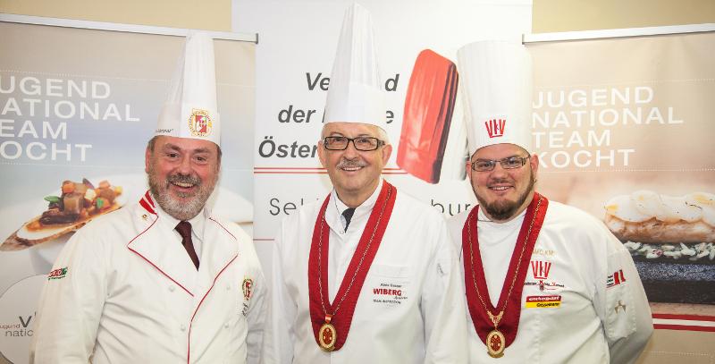 Präsident Alois Gasser (m.) mit seinen Vizepräsidenten Helmut Deutsch (l.) und Mike P. Pansi
